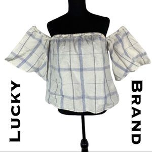Lucky Brand Off The Shoulder Blouse Size S